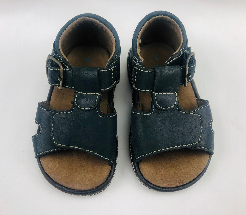 Gro Shu Prussian Blue Leather Sandals