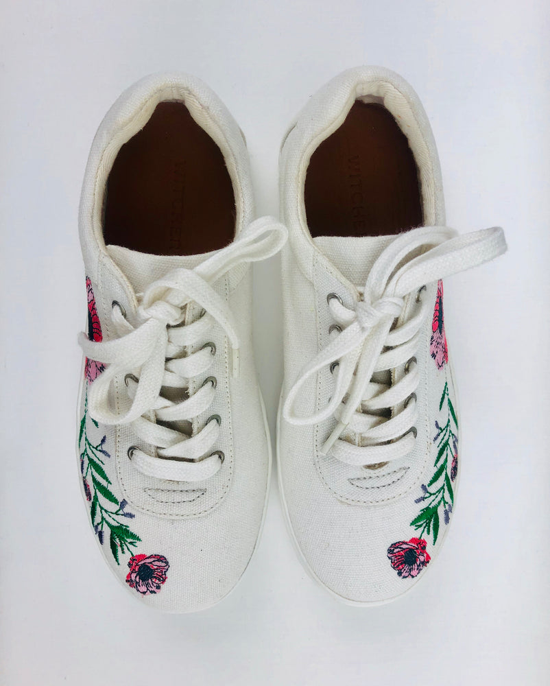Witchery Girls Embroidered Sneakers