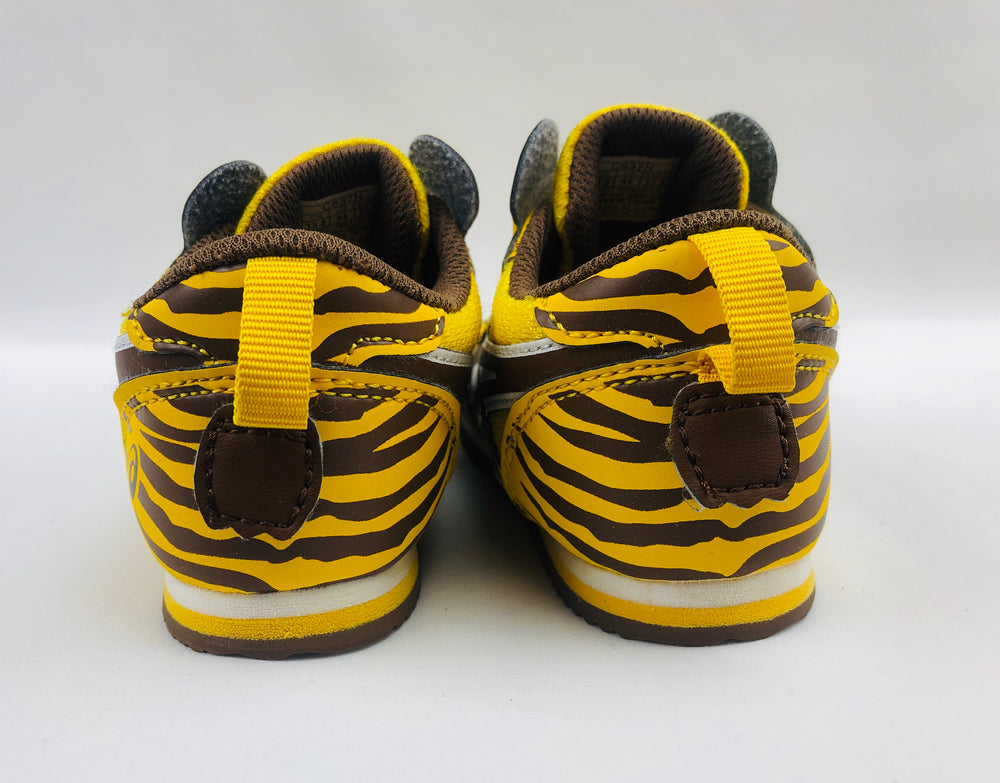 Asics School Yard Zoo Tiger Toddlers Running Shoes