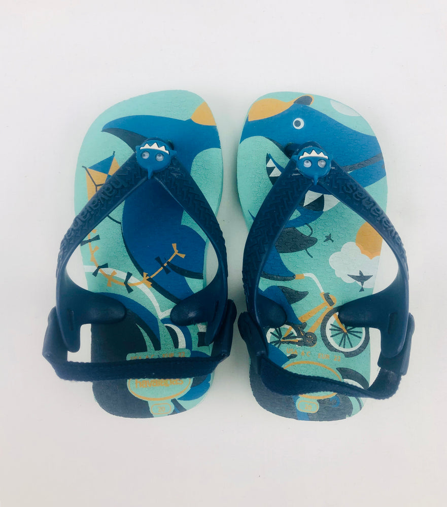 Havaianas Boys Shark Slippers