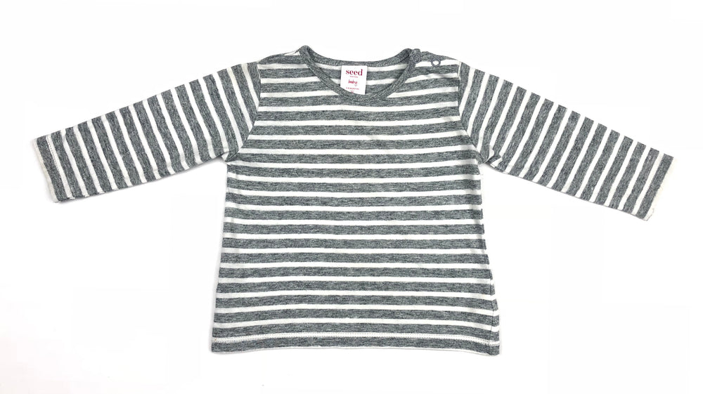 Seed Heritage Baby Long Sleeves Grey Top