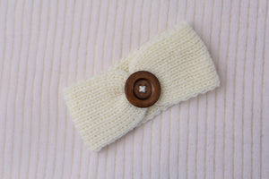 Golden Autumn Knit Button Headband 3pk