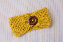 Load image into Gallery viewer, Golden Autumn Knit Button Headband 3pk