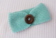 Load image into Gallery viewer, Tickles & Mint Knit Button Headband 3pk