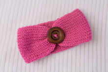 Load image into Gallery viewer, Blushing Heart Knit Button Headband 3pk