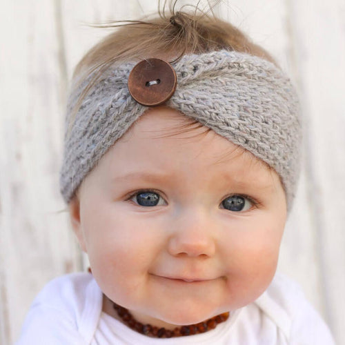 Knit Button Headband