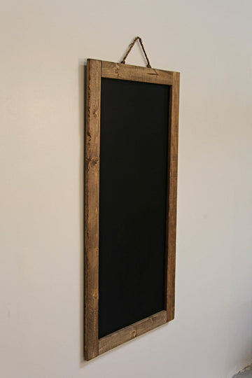 Reclaimed rustic wedding sign chalkboard framed wooden wall decor