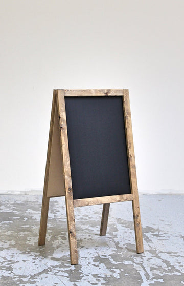 Sidewalk a-frame chalkboard wooden business double sided wedding sign 36x18