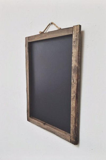 Reclaimed rustic wedding sign chalkboard framed wooden wall decor 36x24
