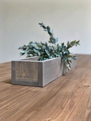 Rustic reclaimed wooden flower box