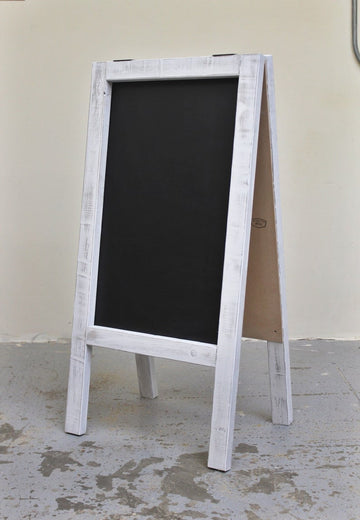 white frame wood chalkboard distressed
