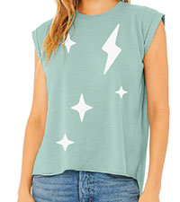 POPSUAGR Play/Ground + Tone It Up Star Cluster Muscle Tee