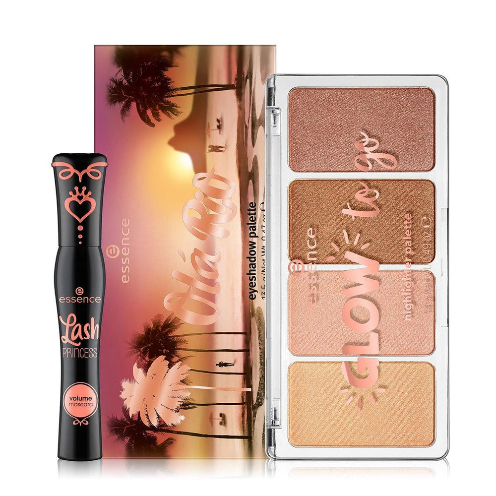 Essence Ola Rio Eyeshadow Palette and Mascara Combo Plus FREE Gift
