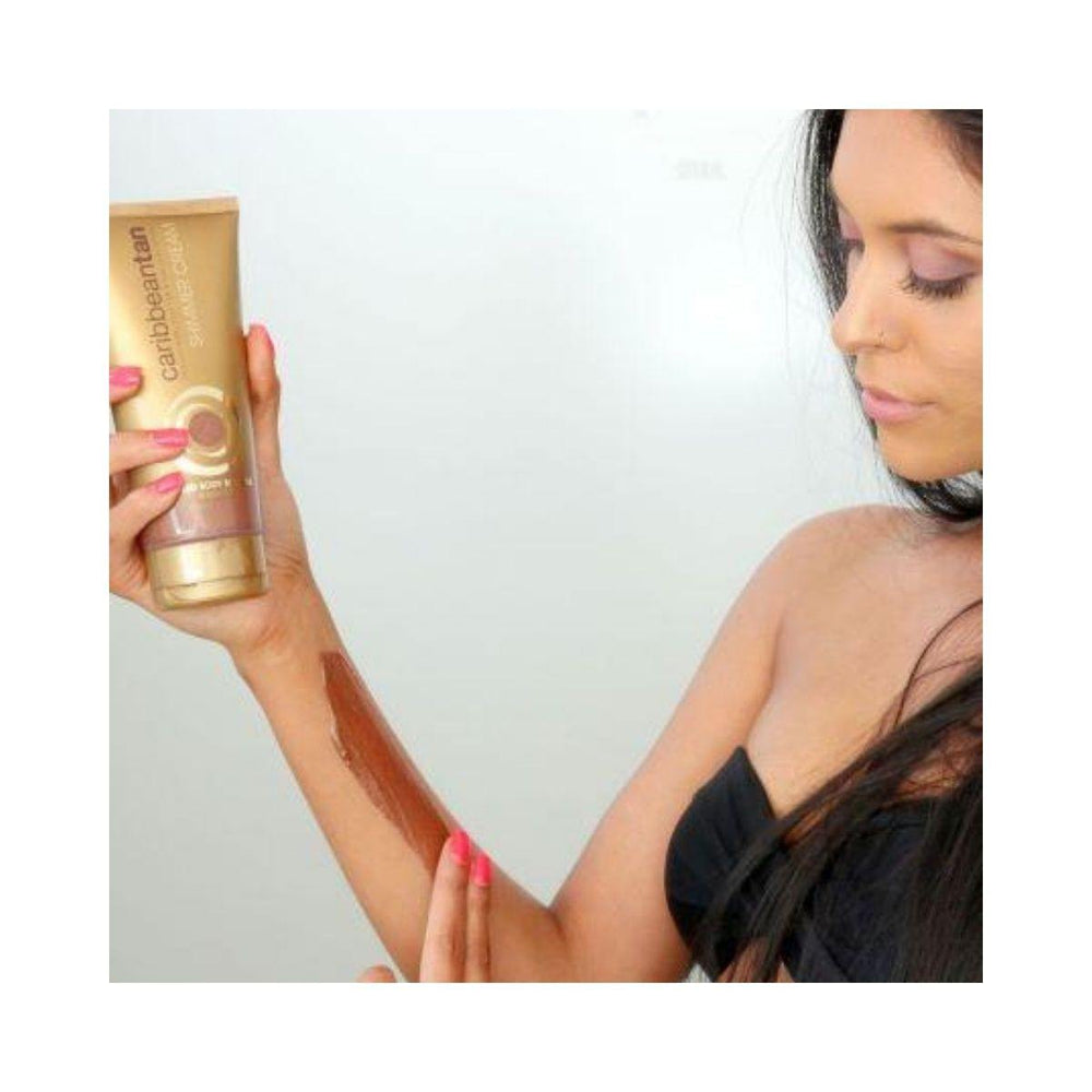 Caribbeantan Tinted Body Bronzer - Shimmer Cream | Wash Off 200ml