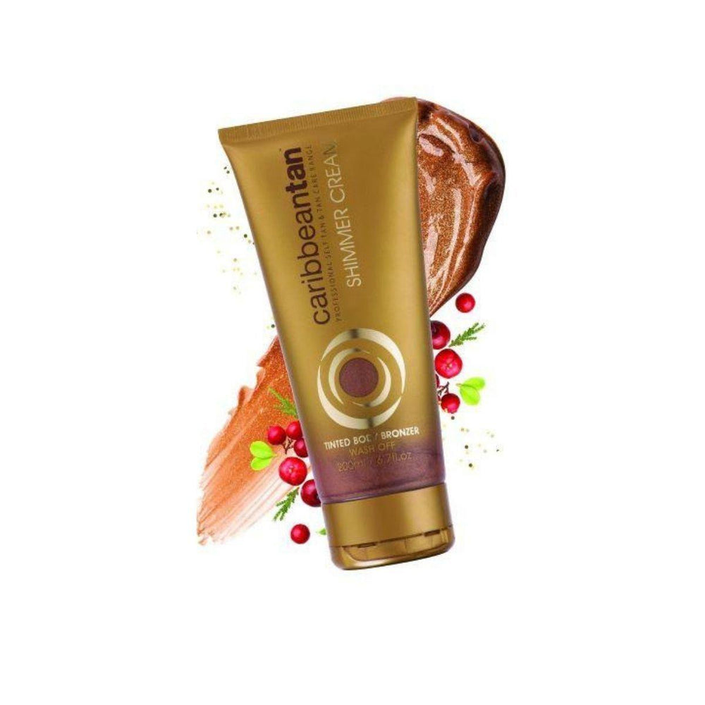Caribbeantan Tinted Body Bronzer - Shimmer Cream | Wash Off 200ml - House of Cosmetics