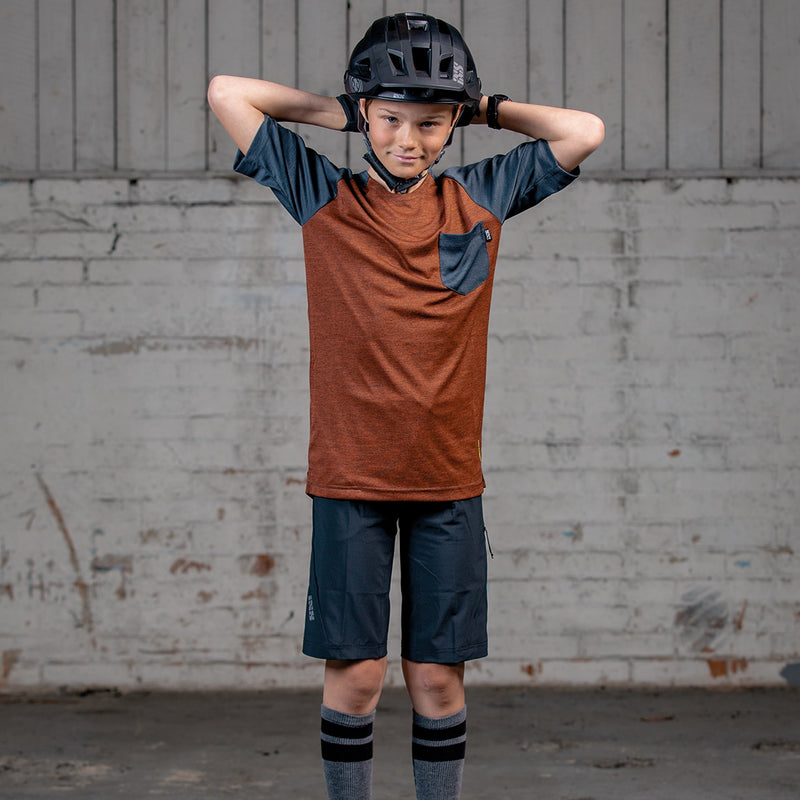 2021 IXS Flow Youth Short Sleeve Trail Jersey - Mountain Kids Canada