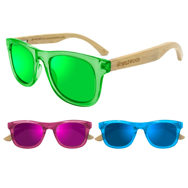 Wildwood Kids Beech Wood Polarized Sunglasses (3-9 yrs) - Mountain Kids Canada