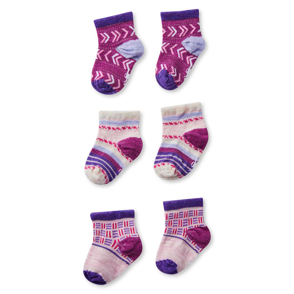 Smartwool Infant Bootie Batch Socks (3 pack) - Mountain Kids Canada