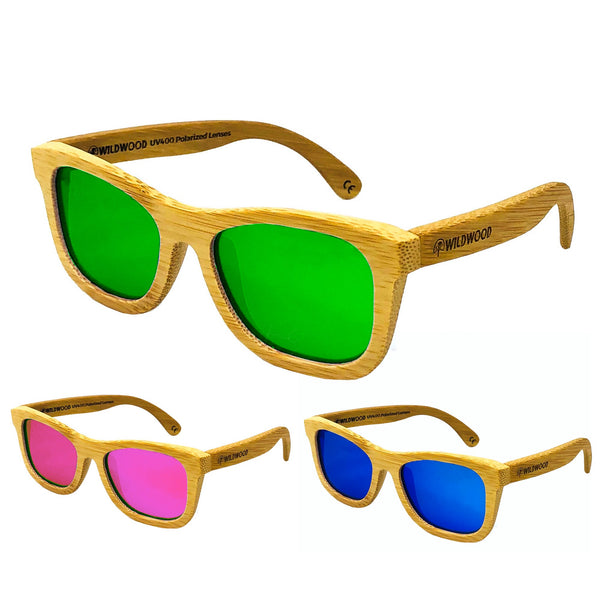 Wildwood Youth Bamboo Polarized Sunglasses (5-12 yrs) - Mountain Kids Canada