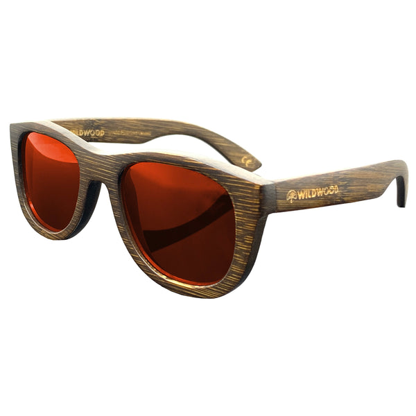 Wildwood Youth Dark Bamboo Polarized Sunglasses (5-12 yrs) - Mountain Kids Canada
