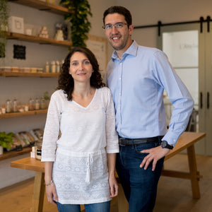 founders, french couple, skincare store.
