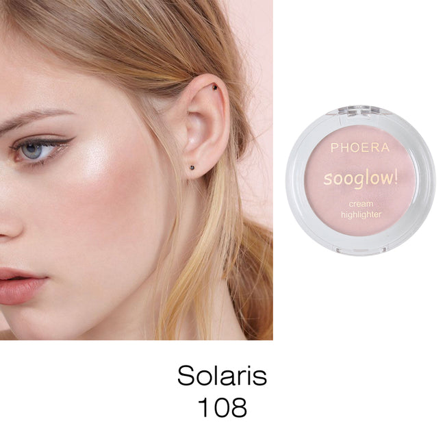 PHOERA® Cream Highlighter Face contour Soo Glow Shimmer Brighten Powder Palette