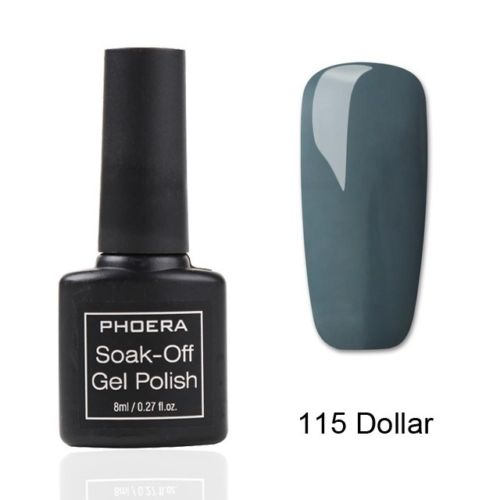 PHOERA® Colour Soak Off UV LED Nail Gel Polish  Manicure Base Top Tempered Coat