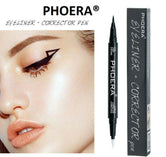 PHOERA® EYE LINER  CORRECTOR ERASABLE 2 IN 1 WINGED CAT EYELINER