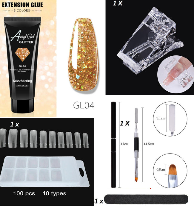 5 Pcs Nail Acryl Poly Gel Kit