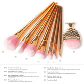 7 Pcs Beautiful Gold Make up Brushes Set