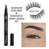 PHOERA 9D Synthetic Mink Lashes & Adhesive Eyeliner Kit