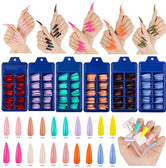 100 x  Various Colours Full Cover Acrylic Nails