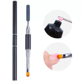Double sided Spatula and Nail Gel Brush