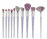 10 pcs Unicorn Extra Soft Make up Brushes Set
