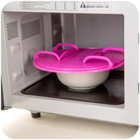 Kitchen Multifunctional Microwave Steaming Rack Layered Dish Tray Plate Stacker