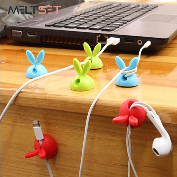 Desktop Cute Rabbit Cable Holder
