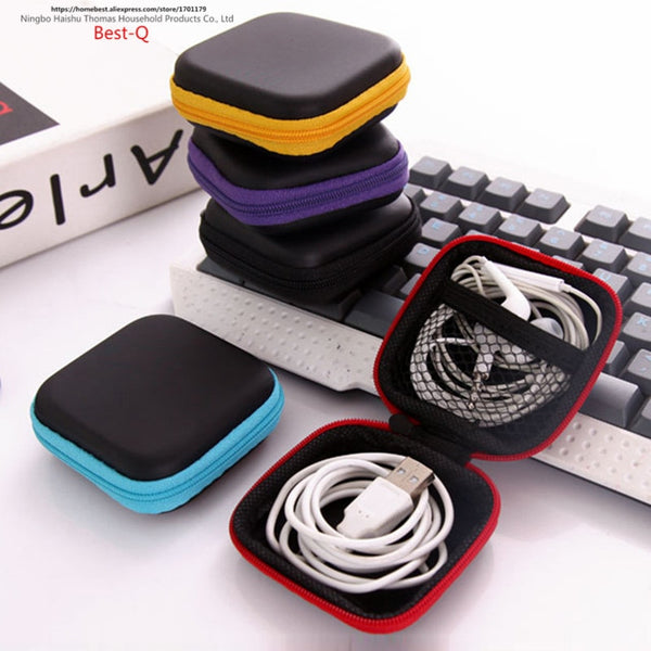 mobile phone charger & earphone storage case
