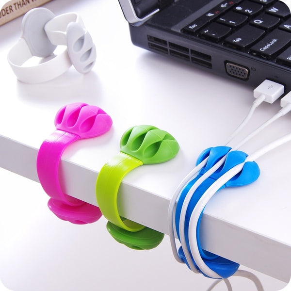 Desk Cable Clips Triple Slots