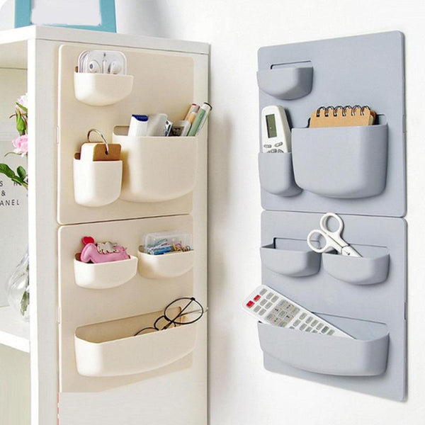 Wall Mounted Self Adhesive Plastic Storage Rack