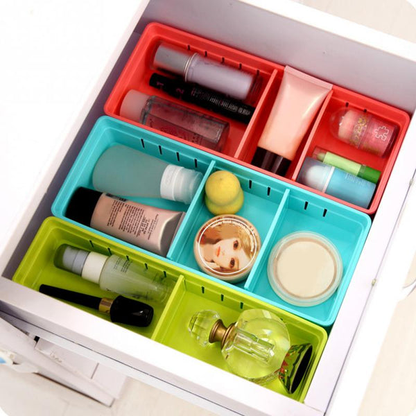Adjustable Drawer Organizer for jewelry and Makeup