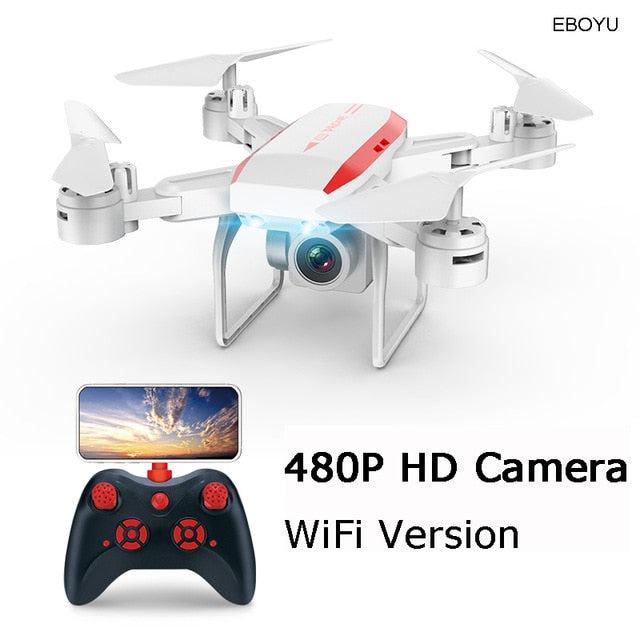 XKY KY606D 2.4Ghz RC Fold Drone Selfie Drone Wifi FPV 4K HD Camera Altitude Hold & Headless Mode RC Quadcopter Drone-20 min Fly