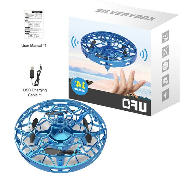 Hipac Mini Drone UFO Hand Operated RC Helicopter Quadrocopter Dron Infrared Induction Aircraft Flying Ball Toys For Kids
