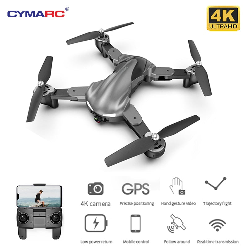 CYMARC G15 GPS Drone 4K HD Camera Professional Altitude Hold RC Drone Quadcopter Follow Me flight 15 minutes Dron VS SG907