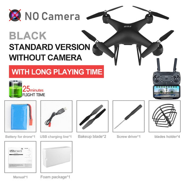 RC Drone UAV with Aerial Photography 4K HD Pixel Camera Remote Control 4-Axis Quadcopter Aircraft Long Life Flying Toys JIMITU