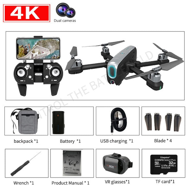 New RC Drone 4k 6k 8k Ultra HD Pixel GPS 5G WiFi Three Axis Brushless Motor FPV VR Drone Flying 33 Minutes RC Quadcopter Toy
