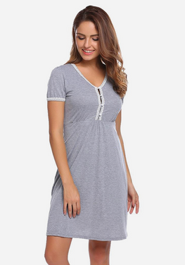 Garro V-Neck Slim Solid Sleepwear