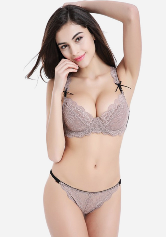 Devinna Ultra-thin Lace Floral Bra Sets