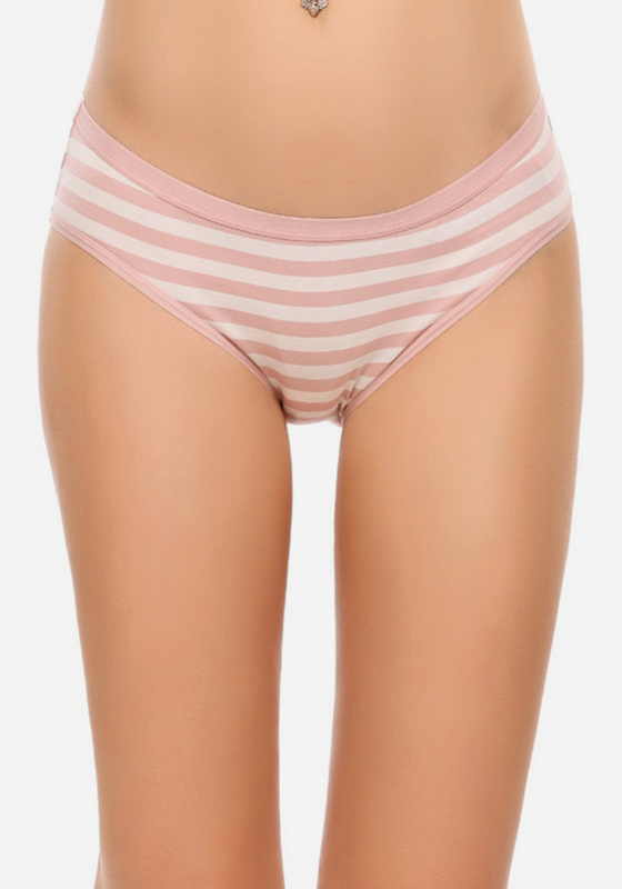 Willona 3 Pcs Stripe Cotton Panties