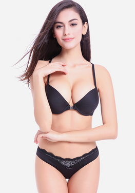 Weslir Deep V Front Buckle Bra Set