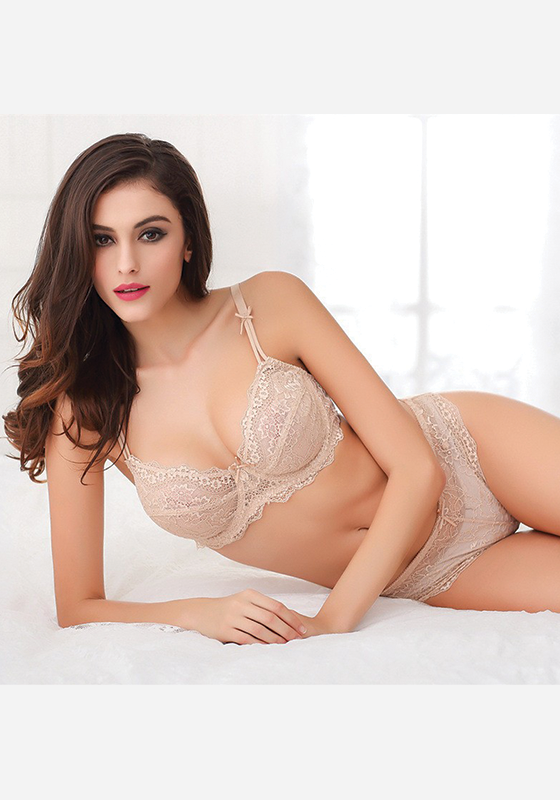 Elisabeti Push Up Lace Bra Set
